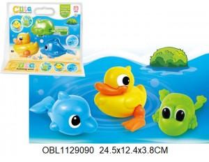 Животные заводные водоплавающие 3 шт/упаковка