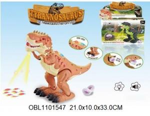 Животные на батарейках динозавр со светом и музыкой