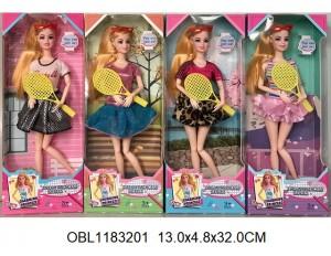Кукла на шарнирах теннисистка 4 вида