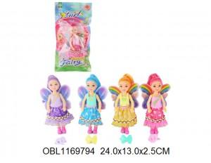 Кукла фея в фиолетовом платье
