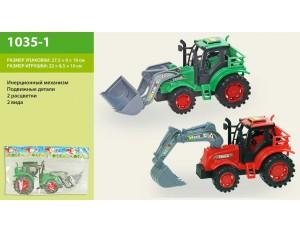 Машина инерц. трактор 2 цвета