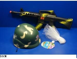 Набор военный Автомат и шлем в сетке