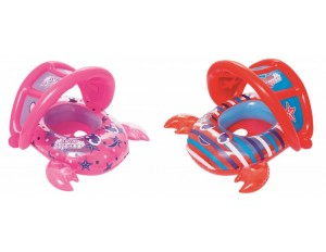 Надувная игрушка Лодка Крабик с навесом 86*66 см