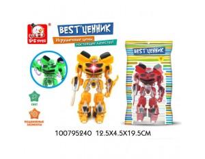 Робот-трансформер, подвижные элементы, световые эффекты, в пакете 12,5*4,5*19,5 см.