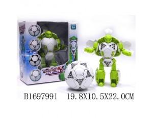 Робот-трансформер (трансформируется в мяч), в коробке 19,8*10,5*22 см.