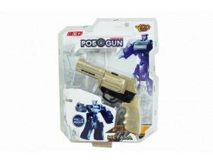 Робот-пистолет, трансформер 2 в1 из металла, блистер 17*4*22 см.