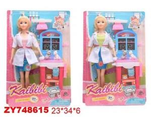 """Кукла """"Ветеринар"""" с аксессуарами, блистер 23*34*6 см."""