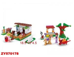 """Конструктор """"Ферма"""" в ассортименте 79 и 73 деталей, в коробке 18,5*13*4,5 см. 24304/24305"""