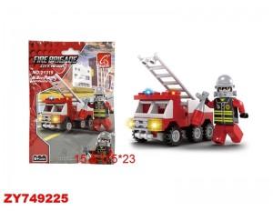 """Конструктор """"Пожарная машина"""" 63 детали, в пакете 15,5*0,5*23 см.21319"""