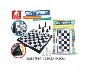 """Настольная игра """"Шахматы магнитные"""", в пакете 12,5*2*19,5 см."""