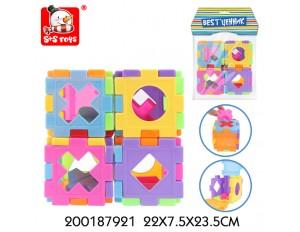 Кубик-сортер развивающий с логическими фигурами