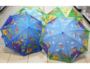 Зонтик 50см Динозаврики в ассортименте