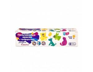 Набор для детского творчества Пальчиковые краски с трафаретом
