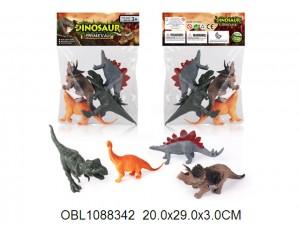 Животные динозавр 4 шт/пакет