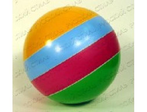 Мяч резиновый 150 мм лакированный с полосой